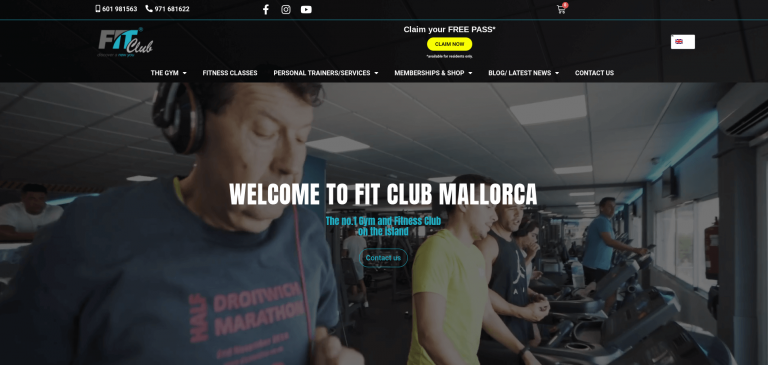 Fit Club Mallorca Website